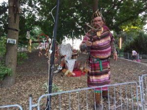 לילות אפריקה בגן הבוטני- עם זקן השבט